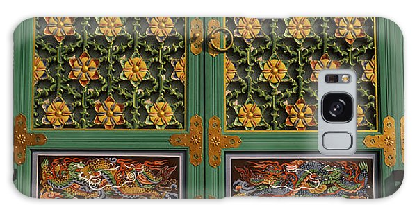 Place Of Worship Galaxy Case - Paintings On The Door Of A Buddhist by Panoramic Images