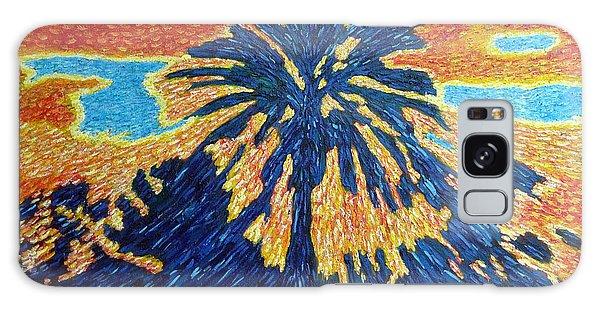 Palm Tree In Rising Sun Galaxy Case by Gerhardt Isringhaus