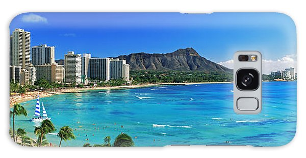 Palm Trees On The Beach, Diamond Head Galaxy Case