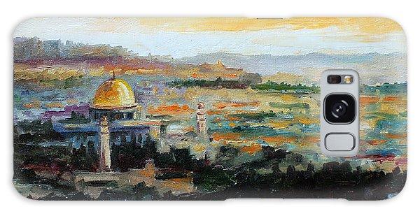 Panorama Of Jerusalem Galaxy Case