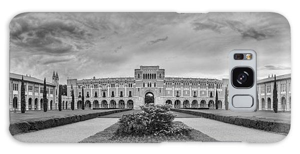 Panorama Of Rice University Academic Quad Black And White - Houston Texas Galaxy Case