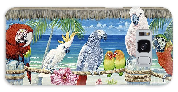 Parrots In Paradise Galaxy Case by Danielle  Perry