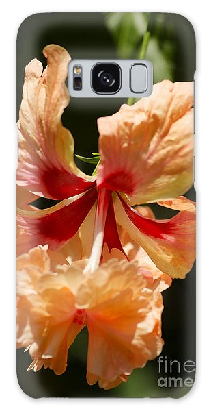 Peach And Red Flower Galaxy Case