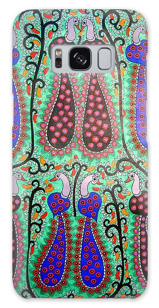 Peacocks-madhubani Painting Galaxy Case