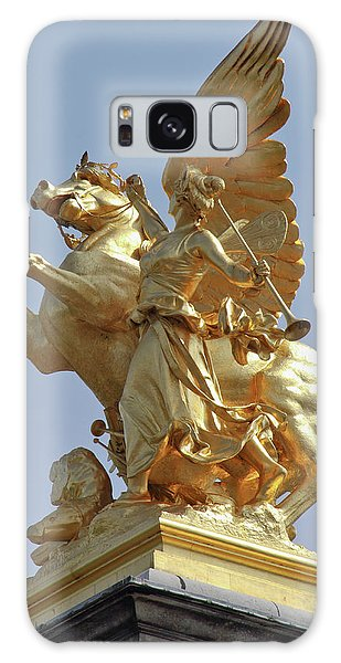 Pegasus Statue At The Pont Alexander Galaxy Case by William Sutton
