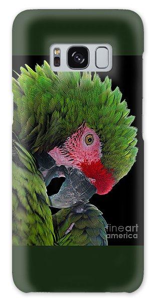 Pensive Parrot Galaxy Case