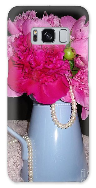 Peonies Pearls And Lace Galaxy Case