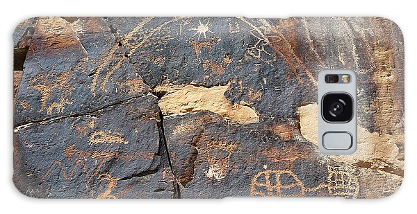 547p Petroglyph - Nine Mile Canyon Galaxy Case