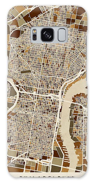 City Map Galaxy Case - Philadelphia Pennsylvania Street Map by Michael Tompsett