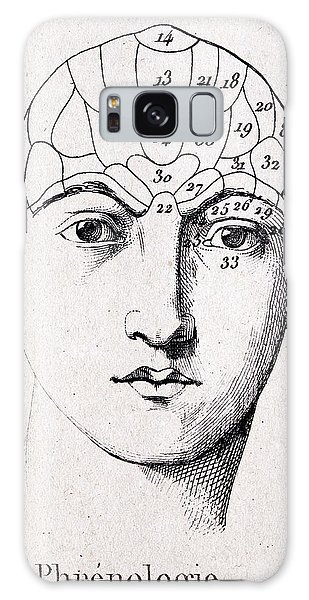 Traits Galaxy Case - Phrenology Head Chart by Paul D Stewart