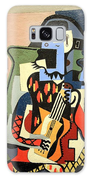 Picasso's Harlequin Musician Galaxy Case