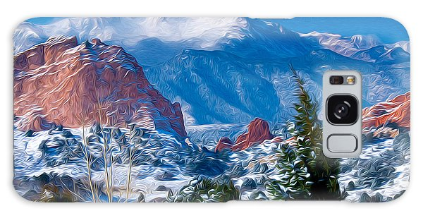 Pikes Peak In Winter Galaxy Case