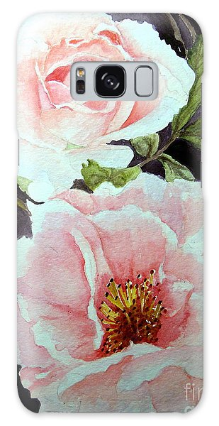 Pink Roses Galaxy Case by Carol Grimes