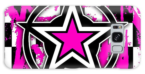 Pink Star Checkerboard Galaxy Case