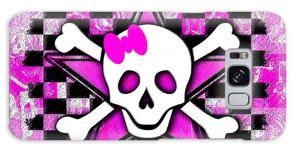 Pink Star Skull Galaxy Case
