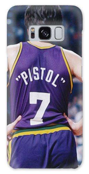 Pistol Pete Maravich Galaxy Case by Paint Splat