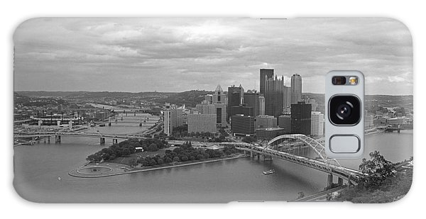 Pittsburgh - View Of The Three Rivers Galaxy Case by Frank Romeo