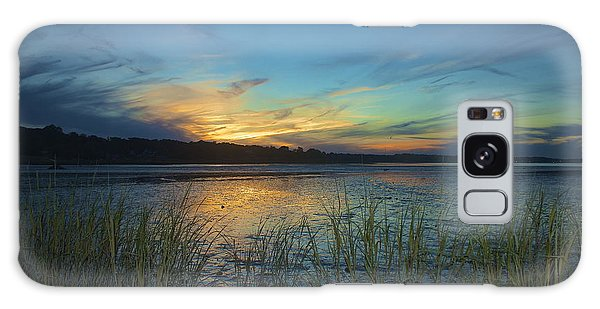 Plymouth Harbor Sunset Galaxy Case