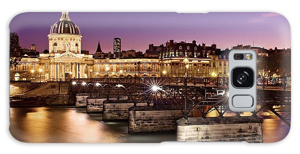 Galaxy Case featuring the photograph Pont Des Arts And Institut De France / Paris by Barry O Carroll