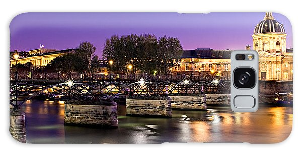 Galaxy Case featuring the photograph Pont Des Arts At Night / Paris by Barry O Carroll