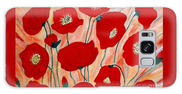 Poppies. Inspirations Collection. Galaxy Case