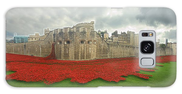 Poppies Tower Of London Collage Galaxy Case by David French
