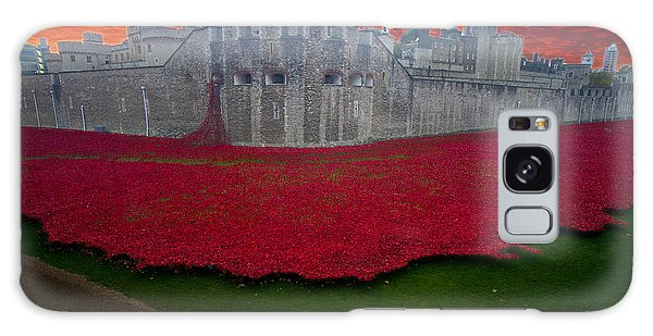 Poppies Tower Of London Galaxy Case