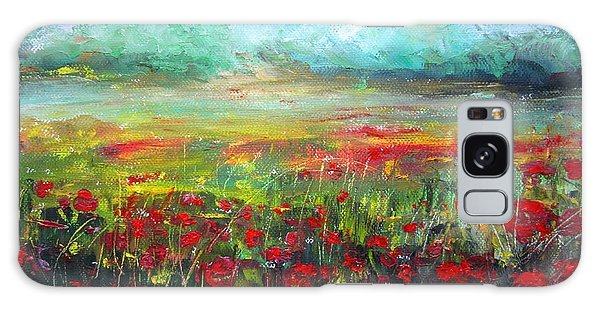 Poppy Fields Galaxy Case by Vesna Martinjak