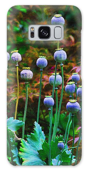 Poppy Seed Pods Galaxy Case by Tom Janca