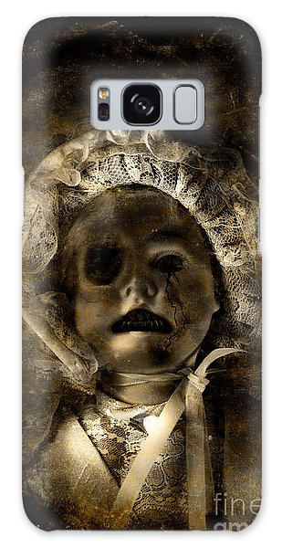 Anguish Galaxy Case - Porcelain Doll Crying Tears Of Cracks by Jorgo Photography - Wall Art Gallery