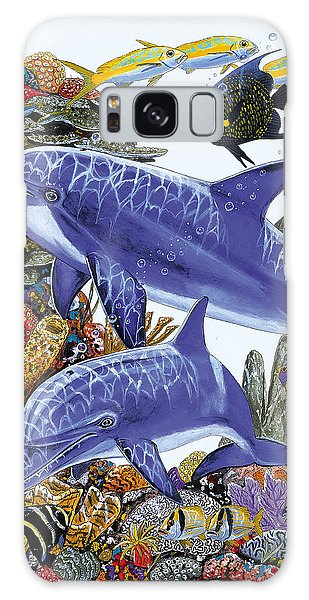 Mangrove Snapper Galaxy Case - Porpoise Reef by Carey Chen