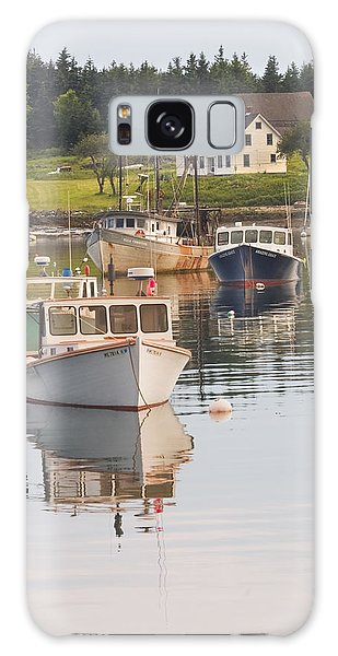 Port Clyde Maine Boats And Harbor Galaxy Case