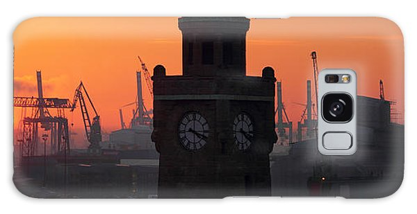 Port Of Hamburg Sunset Galaxy Case