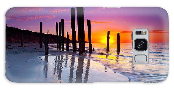 Port Willunga Sunset Galaxy Case by Bill  Robinson