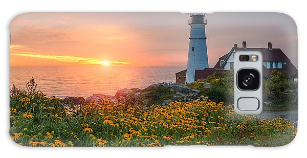 Portland Head Light Sunrise  Galaxy Case