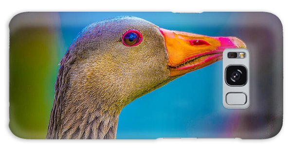 Gosling Galaxy Case - Portrait Of Greylag Goose, Iceland by Panoramic Images