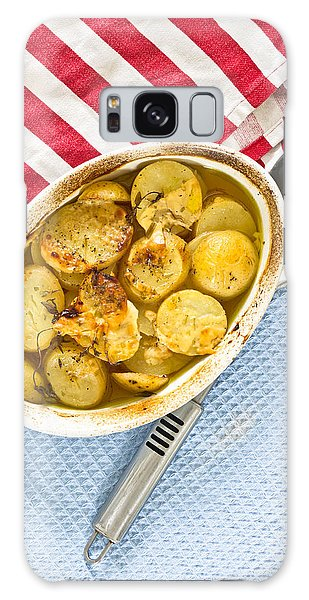 Potato Dish Galaxy Case by Tom Gowanlock