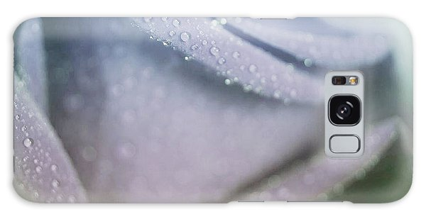 Powdery Blue Rose Galaxy Case by The Art Of Marilyn Ridoutt-Greene