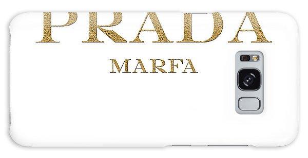 Gold Galaxy Case - Prada Marfa Mileage Distance by Edit Voros