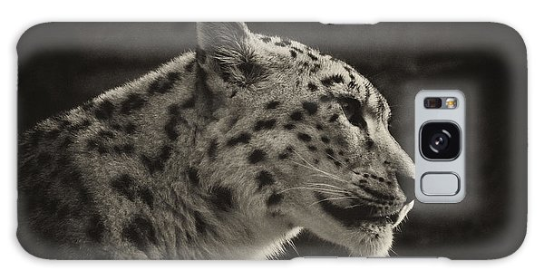 Profile Of A Snow Leopard Galaxy Case by Chris Boulton