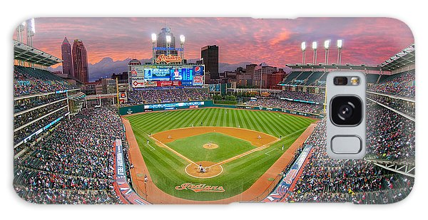 Progressive Field Sunset Galaxy Case