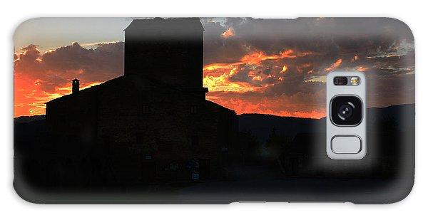 Puesta De Sol En El Castillo De Ainsa Galaxy Case