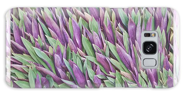Purple And Green Galaxy Case by Holly Kempe