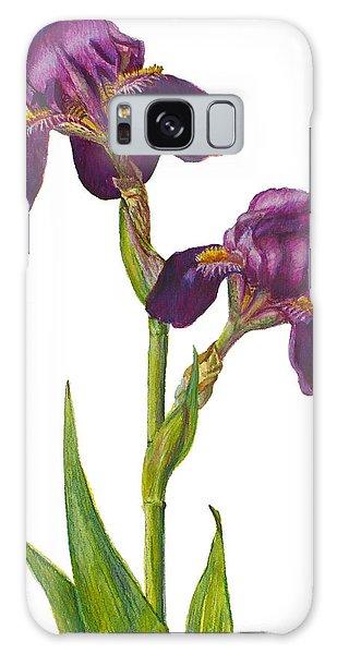 Purple Bearded Iris Galaxy Case