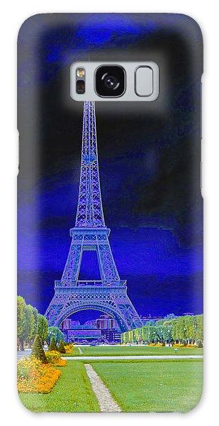 Purple Eiffel Galaxy Case