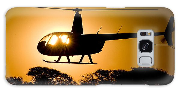 Galaxy Case featuring the photograph R44 Sunset by Paul Job