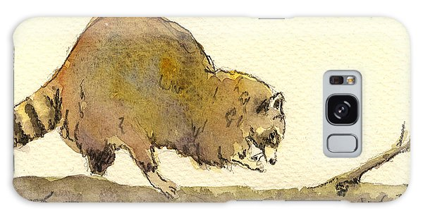 Raccoon Galaxy Case - Raccoon by Juan  Bosco