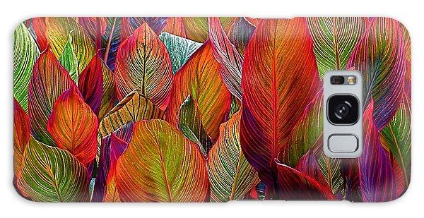 Rainbow Leaves Galaxy Case