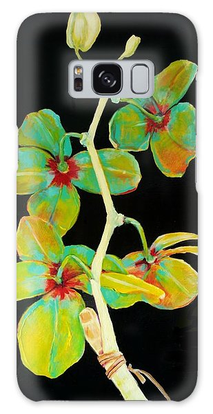 Rainbow Orchids Galaxy Case by Jean Cormier