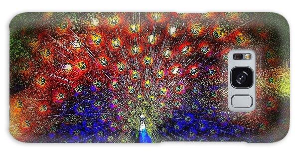 Rainbow Peacock Galaxy Case by Jodie Marie Anne Richardson Traugott          aka jm-ART